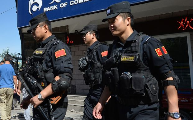 Chinese armed police