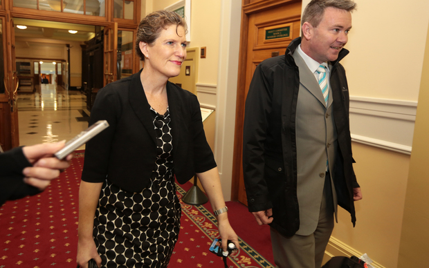 Rebecca Kitteridge, Director of the New Zealand Security Intelligence Service, arriving at the select committee considering new anti-terrorism legislation