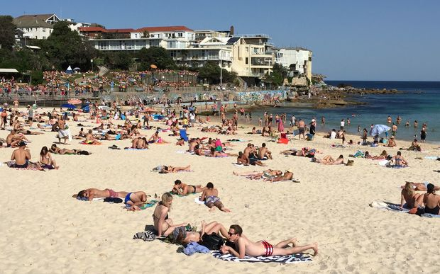 Sydneysiders flocked to Bondi Beach in late September as the hottest spring on record kicked in.