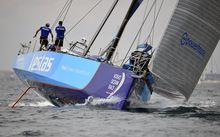 Team Vestas Wind setting off last month at the start of the Volvo Ocean Race.