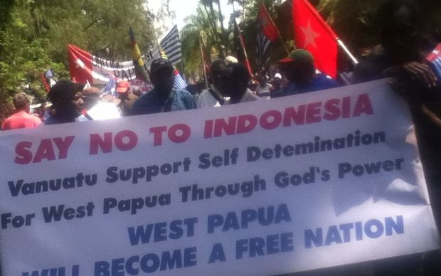 March in support of West Papua in Vanuatu's Port Vila