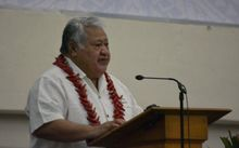 Samoa Prime Minister, Tuilaepa Sailele Malielegaoi, opening the Western and Central Pacific Fisheries Commission