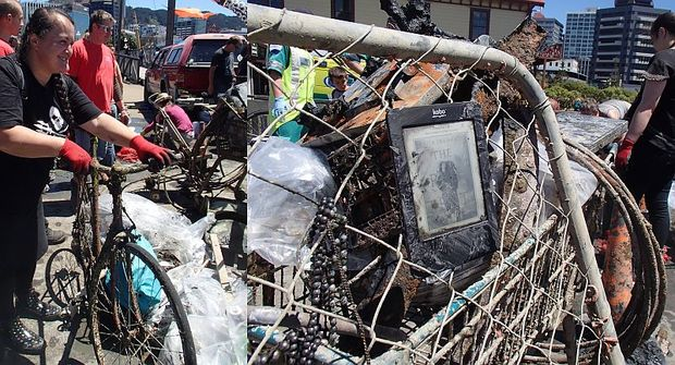 A bicycle and an e-reader were amongst the rubbish collected. Despite the large amounts of rubbish removed the divers said they had barely scratched the surface of what was in and around the wharfs.