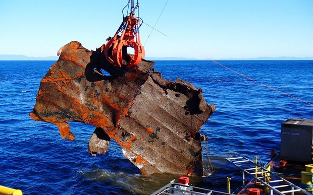 Work is continuing to retrieve container debris from the ocean.