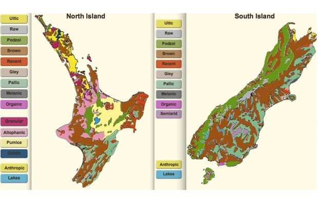Soils are classified into orders, groups, subgroups and families. This map displays New Zealand's soil orders.