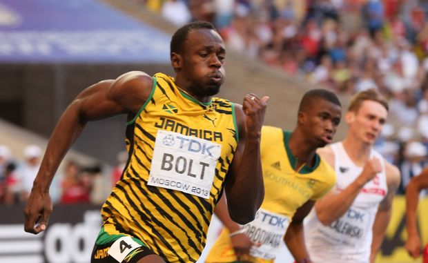 Jamaican Olympic sprint champion Usain Bolt.