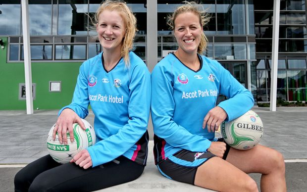 Wendy Frew (right) will captain the Southern Sting in 2015 while Shannon Francois will be vice captain.