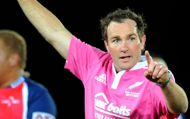 New Zealand rugby referee Glen Jackson