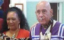 Doreen Bennett and native American leader Mashu White Feather.