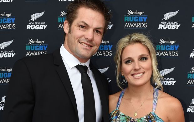 Richie McCaw and partner Gemma Flynn at the 2014 rugby awards.