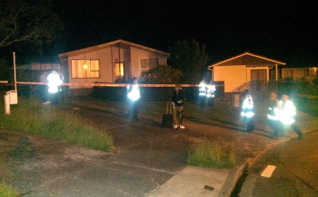 Police at the scene of last night's incident in Upper Hutt.