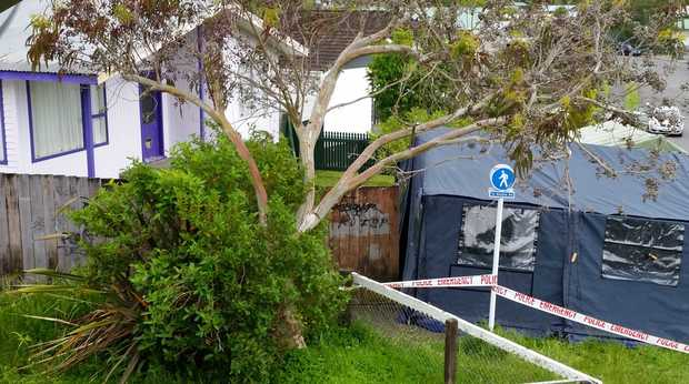 A forensic tent has been erected at the property in Upper Hutt.
