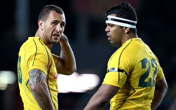 Quade Cooper and Kurtley Beale on Wallabies duty