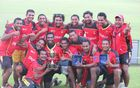 Papua New Guinea celebrate defending their South Australian Premier League Twenty20 title.