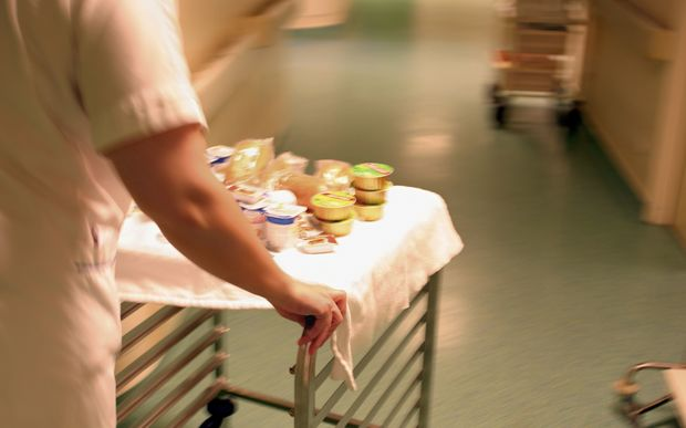 hospital food being delivered