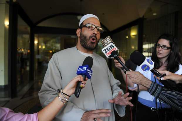 Man Haron Monis talking to the media in 2011, when accused of sending offending letters to the families of soldiers killed in Afghanastan.