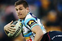 Paul Carter of the Gold Coast Titans in action.