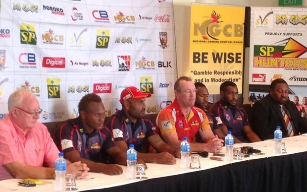 PNG Rugby League CEO Brad Tassell at a press conference last year.