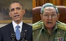 President Obama and President Castro made announcements at the same time.