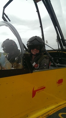 Alison Hossain takes part in a RNZAF training day in Nelson in 2014.