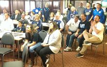 Auckland City fans watching the team at the club's headquarters at Kiwitea St.