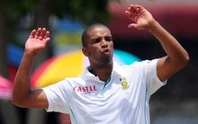 Vernon Philander of South Africa during test match.