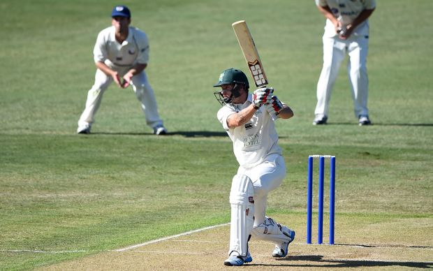 Doug Bracewell batting for Central Districts against Auckland at Eden Park
