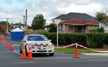 Police are investigating the scene of the incident on Fisher Crescent in Otara.