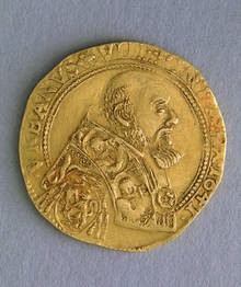 A File Photo Of An Old Coin From Avignon France Showing Pope Urban Viii