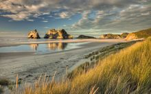 Wharariki Beach near Collingwood, Golden Bay.