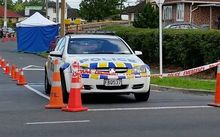 The scene of the incident on Fisher Crescent in Otara on Sunday.