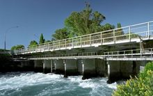 Mighty River Power's Taupo Gates, on Lake Taupo.