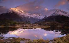 The Routeburn Track's Key Summit at dawn.