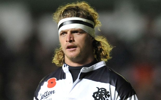 Nick Cummins in Barbarians mode against Leicester