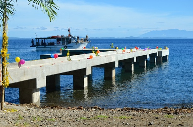 The newly-opened jetty at Raba Raba, Papua New Guinea