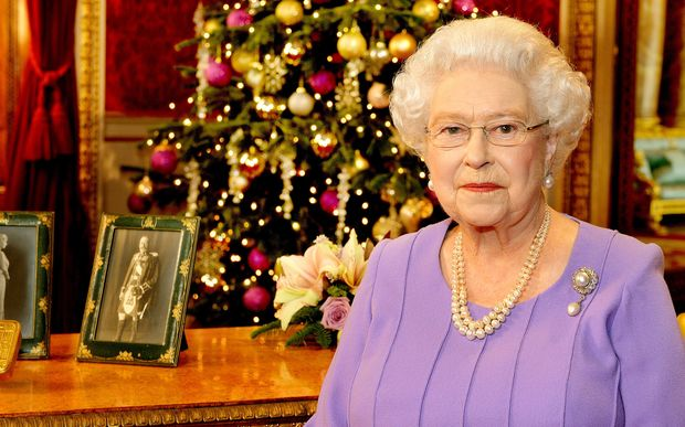 Britain's Queen Elizabeth II is pictured after recording her Christmas Day broadcast to the Commonwealth