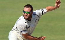 The Black Caps spinner Mark Craig in action.