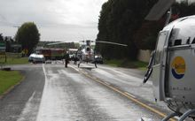 Fatal Car accident attended at Paengaroa by two BOP rescue helicopters.