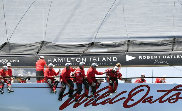 Wild Oats XI in Sydney to Hobart yacht race 2014.