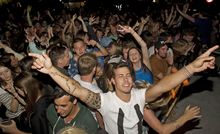 Revellers welcome in 2014 in Queenstown. A big crowd is expected for the countdown to 2015.