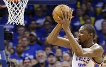 The Thunder's Kevin Durant