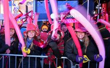 New Year's Eve in Times Square, New York on 31 December 2014