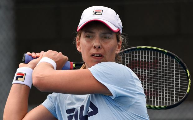 Marina Erakovic practices for the ASB Classic
