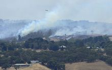Bush fires rage out of control across the Adelaide Hills on 3 January 2015.