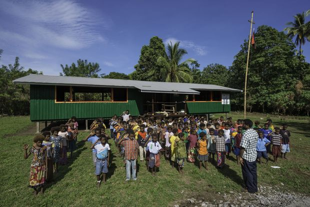 A school in West New Britain, Papua New Guinea