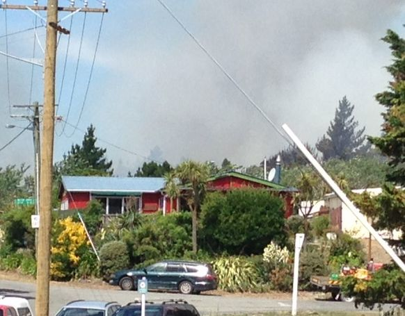 The fire has forced the evacuation of 40 properties.