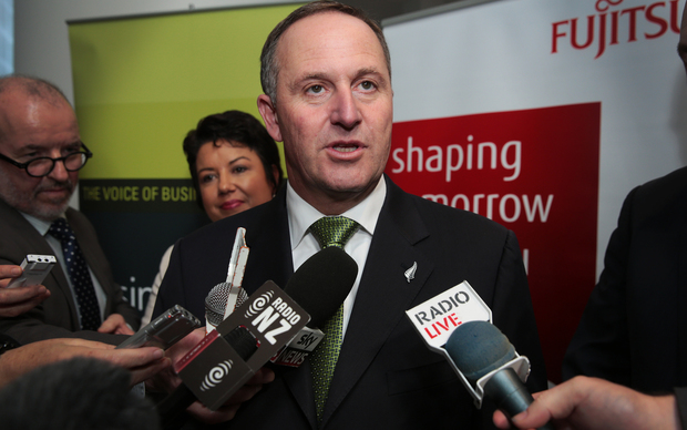 060514. Photo Diego Opatowski / RNZ. John Key after the Prebudget speech in Shed 6 , Queen's Wharf. Wellington.