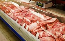 Meat at a butcher's shop