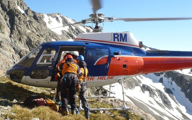 The climbers were rescued from Aoraki Mt Cook.