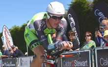 Michael Vink in action at the national road championships